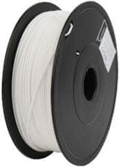 Gembird tlačová struna, PLA+, 1,75mm, 1kg, biela (3DP-PLA + 1.75-02-W)