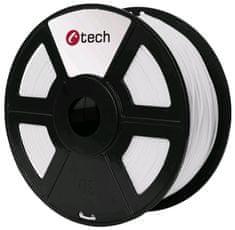 C-Tech tlačová struna, PLA, 1,75mm, 1kg, biela (3DF-PLA1.75-W)