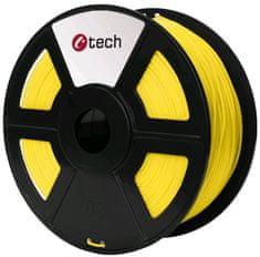 C-Tech tlačová struna, PLA, 1,75mm, 1kg, žltá (3DF-PLA1.75-Y)