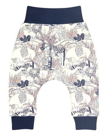 Nini ABN-2264 dekliške hlače iz organskega bombaža, smetanaste, 56