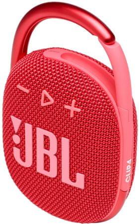JBL Clip 4 prenosni zvočnik, rdeč