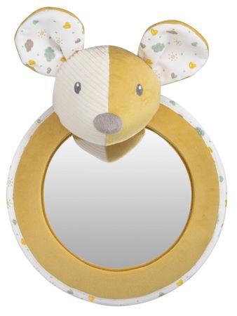 Canpol babies Mouse puha kisállatka tükörrel az autóba