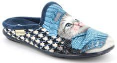 Grünland FAYE CI2780 domácí pantofle modrá koťátko Grunland Velikost: 37