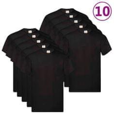shumee Fruit of the Loom Originálne tričká 10 ks čierne S bavlnené