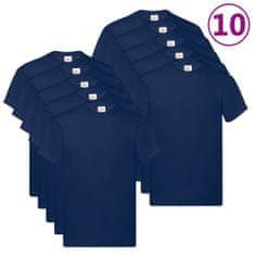 shumee Fruit of the Loom Originálne tričká 10 ks námornícke modré 3XL bavlnené