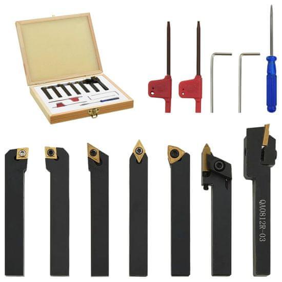 shumee 12dílné nože s vyměnitelnými plátky pro soustruh 8 x 8 mm 60 mm
