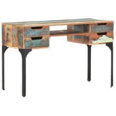 shumee Psací stůl 118 x 48 x75 cm masivní recyklované dřevo