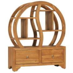shumee Skříňka s policí Yin Yang 68 x 26 x 83 cm masivní teakové dřevo