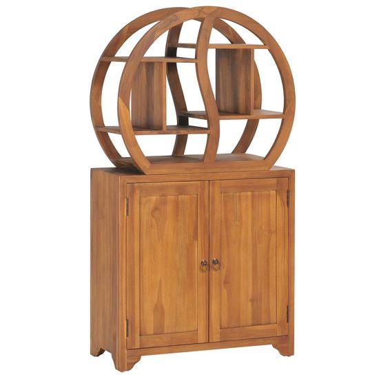 shumee Skříňka s policí Yin Yang 70x30x130 cm masivní teakové dřevo