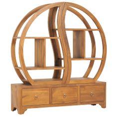 shumee Skříňka s policí Yin Yang 100x26x112 cm masivní teakové dřevo