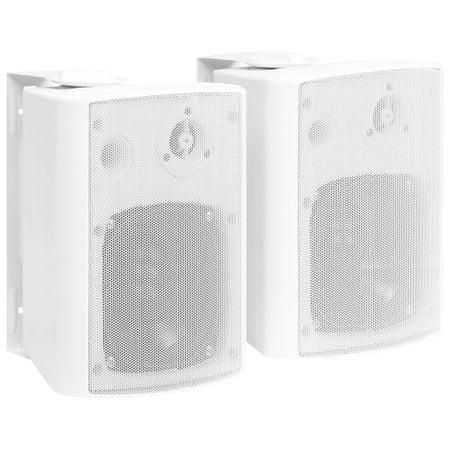 shumee 2 db fehér bel- és kültéri fali sztereó hangszóró 100 W