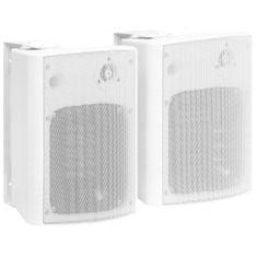 shumee 2 db fehér bel- és kültéri fali sztereó hangszóró 120 W