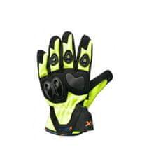 XMOTOS Moto rukavice XMOTOS dětské - černo/zelené S