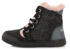 D-D-step dívčí zimní kotníčková obuv 068-899