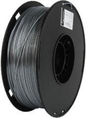 Gembird tlačová struna, PLA+, 1,75mm, 1kg, strieborná (3DP-PLA.75-02-S)