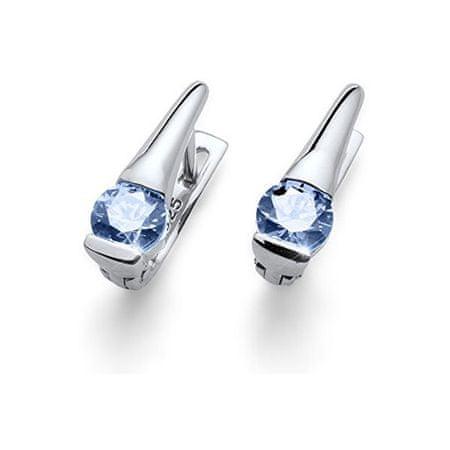 Oliver Weber Srebrne kolczyki z niebieskimi kryształami Plaża Przetargowej BLU 62068
