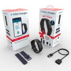 Fitbit Charge 4 (NFC), crna sportska narukvica, poklon set