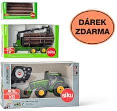 SIKU Control ograničeno izdanje Traktor John Deere + 3155 prikolica + 7049 deblo 1:32