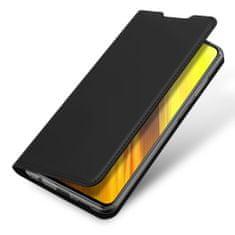 Dux Ducis Skin Pro knížkové kožené pouzdro na Xiaomi Poco X3, černé