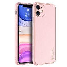 Dux Ducis Yolo usnje ovitek za iPhone 11, roza