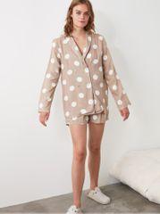 Trendyol béžové dámské puntíkované pyžamo