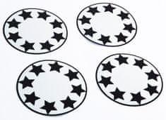 Pogu Fényvisszaverő matricák babakocsikerekekhez, Csillagok, készlet - 4db