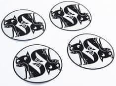 Pogu Fényvisszaverő matricák babakocsikerekekhez, Róka, készlet - 4db
