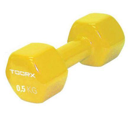 TOORX utežna ročka, vinil, 0,5 kg, rumena