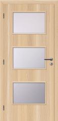 SOLODOOR Interiérové dveře SOLODOOR, prosklené, model SMART 6, šířka 700 mm, levé provedení, povrch SOLO STRUKTUR, dekor STOCKHOLM, oblá boční hrana