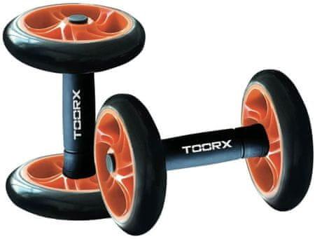 TOORX ročke za vadbo, s kolesi, črno-oranžne
