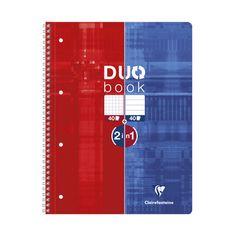 Clairefontaine Duobook blok, spiralni, črtan/karo, A4