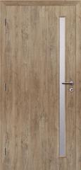 SOLODOOR Interiérové dveře SOLODOOR, prosklené, model SMART 20, šířka 700 mm, levé provedení, povrch SOLO STRUKTUR, dekor DUB ALPSKÝ, oblá boční hrana