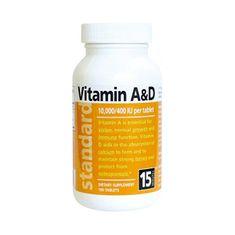 Natural Vitamín A / D 10 000/400 IU 100 tablet