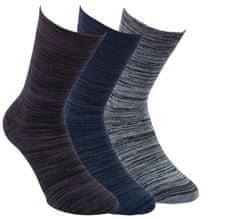 RS Zdravotní unisex melírované bambusové ponožky s bavlnou 43063 3-pack