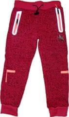 KUGO Dívčí zateplené silnější růžové kalhoty s jednorožcem a reflexními prvky.