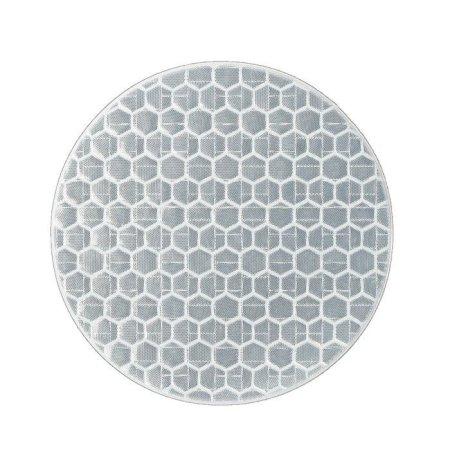 Kraftika 10 szt, odblaskowe naklejki, koło d 5 cm, białe