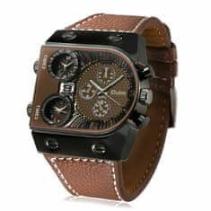 Daklos Multifunkční vojenské hodinky - trojí čas - Hnědá