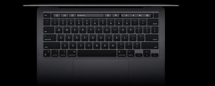 notebook apple MacBook Pro 13 M1 (Z11C0003U) klávesnice nůžkový systém Touch ID vícedotykový