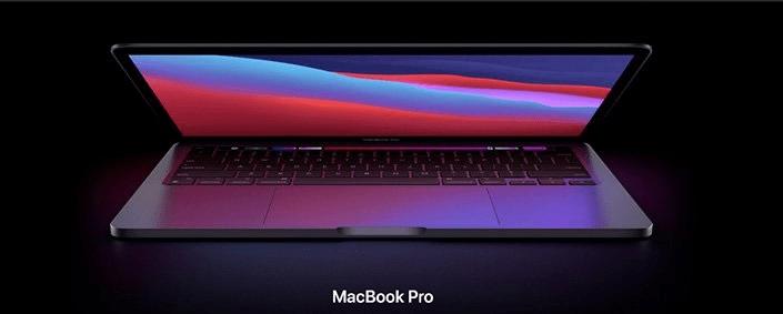 notebook apple MacBook Pro 13 M1 (Z11C0003U) větší výkon intel core touch bar profesionální