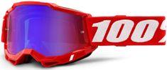 100% ACCURI 2 100% - USA , brýle červené - zrcadlové červené/modré plexi 50221-254-03