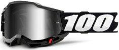 100% ACCURI 2 100% - USA , brýle černé - zrcadlové stříbrné plexi 50221-252-01