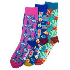 MEATFLY 3 PACK - zokni Globe socks - S19 Multipack