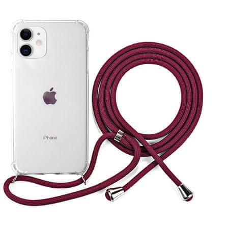 EPICO Nake String Case za iPhone 11 42410101400006, bela, transparentna, rdeč