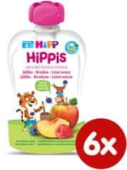 HiPP BIO 100% ovoce Jablko-Broskev-Lesní ovoce 6 x 100 g