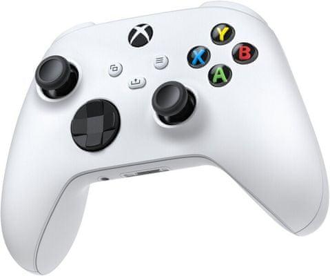 Microsoft Xbox Wireless Controller, biały (QAS-00002) hybrydowa kontrola kierunkowa wibracje