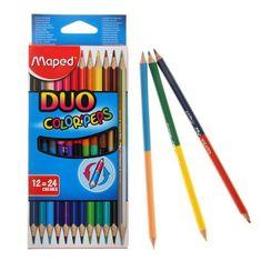 Maped Ołówki dwukolorowe kolorowe peps trójkątne