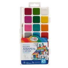 Gamma Akvarely gamma, 21 barev, se štětcem, v plastovém obalu
