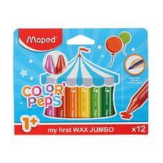 Maped Płytki wosk 12 kolorów, zmontowany kolor ' eps, maxi