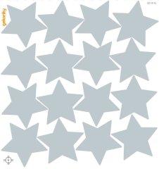GEKONKY Hvězdy světle šedé
