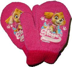 Nickelodeon Baby pletené rukavice s pejskem Paw patrol růžové.